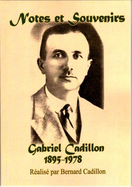 Première de couverture des Notes et Souvenirs de Gabriel Cadillon