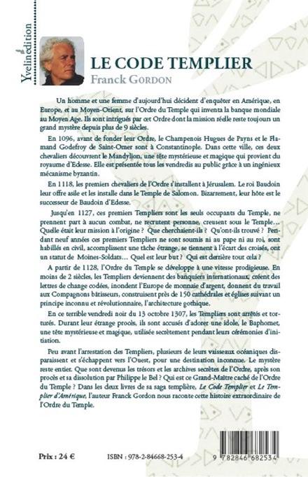 Une histoire extraordinaire de l'Ordre du Temple par Franck Gordon