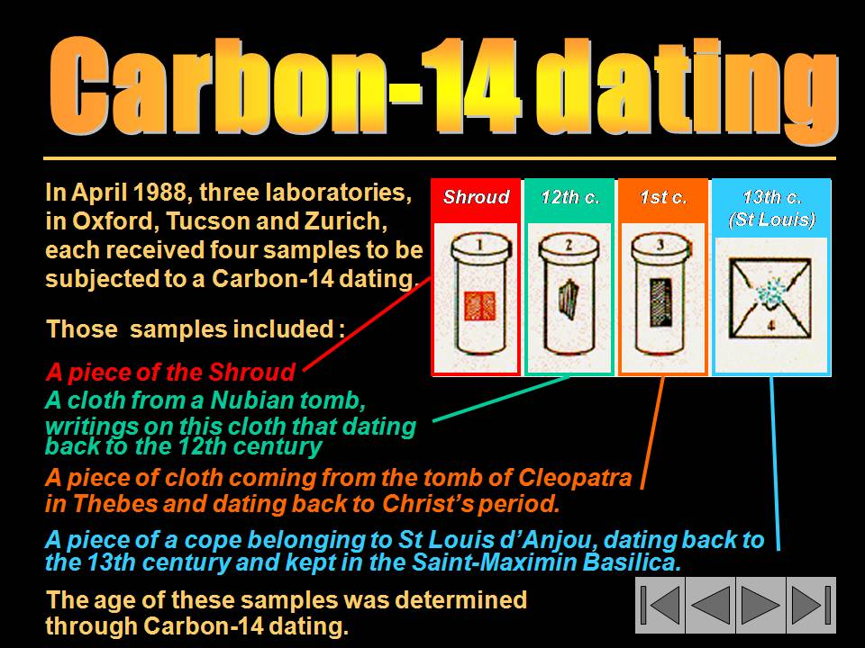Carbon-14 dating concludes