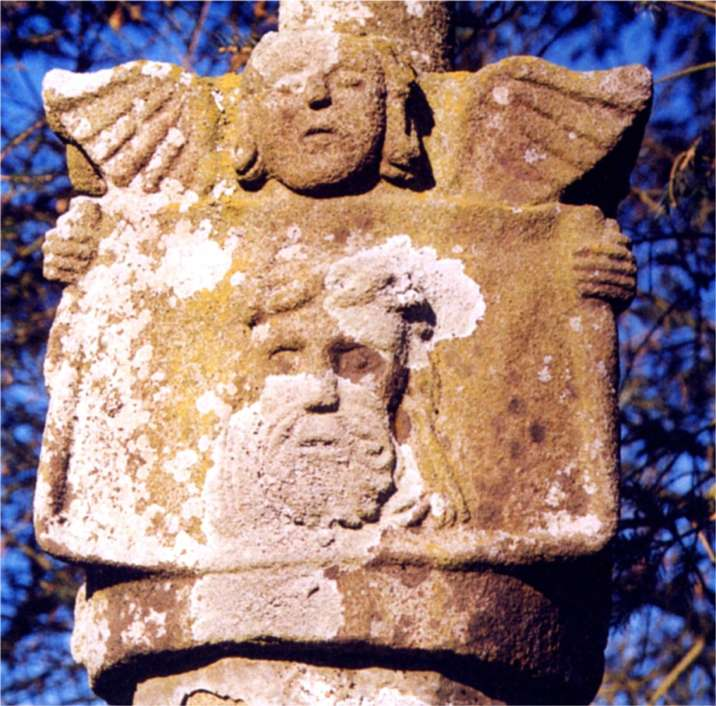 This stone Mandylion is a sculpture found on a small breton Calvary in France on September 2001