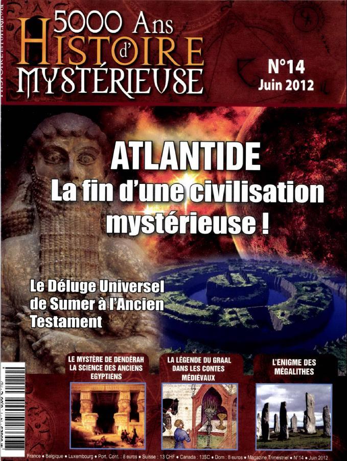 revue 5000 ANS D'HISTOIRE MYSTERIEUSE.